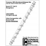 Conway Machine Manufactured Aluminum Gripper Bar Fits Bobst SP 1260 E Marginless Die Cutter