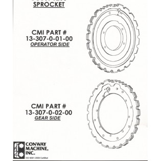 Conway Machine Manufactured Sprockets to be used in Bobst 1260 die cutter