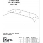 Conway Chain Guide Rail Set for Bobst SP 1420 E Series 1-11